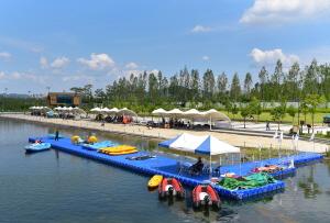 세종호수공원에서 즐기는 물놀이섬, 은빛해변, 해양스포츠체험