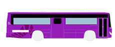 Wide-area bus - Purple bus