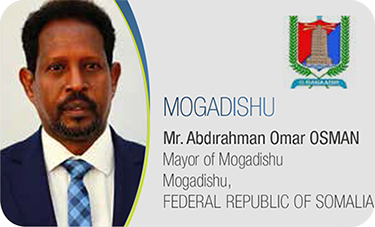 MOGADISHU-Mr. Abdırahman Omar OSMAN / Mayor of Mogadishu Mogadishu, FEDERAL REPUBLIC OF SOMALIA
