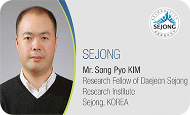 SEJONG-Mr. Song Pyo KIM / Research Fellow of Daejeon Sejong Research Institute Sejong, KOREA