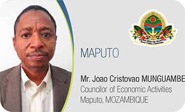 MAPUTO-Mr.	Joao Cristovao MUNGUAMBE / Councilor of Economic Activities Maputo, MOZAMBIQUE